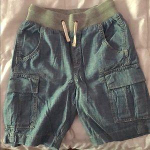 Boys size 6/7 denim chambray cargo shorts gap kids